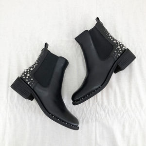 SAM EDELMAN Leather Dover Embellished Chelsea Boot